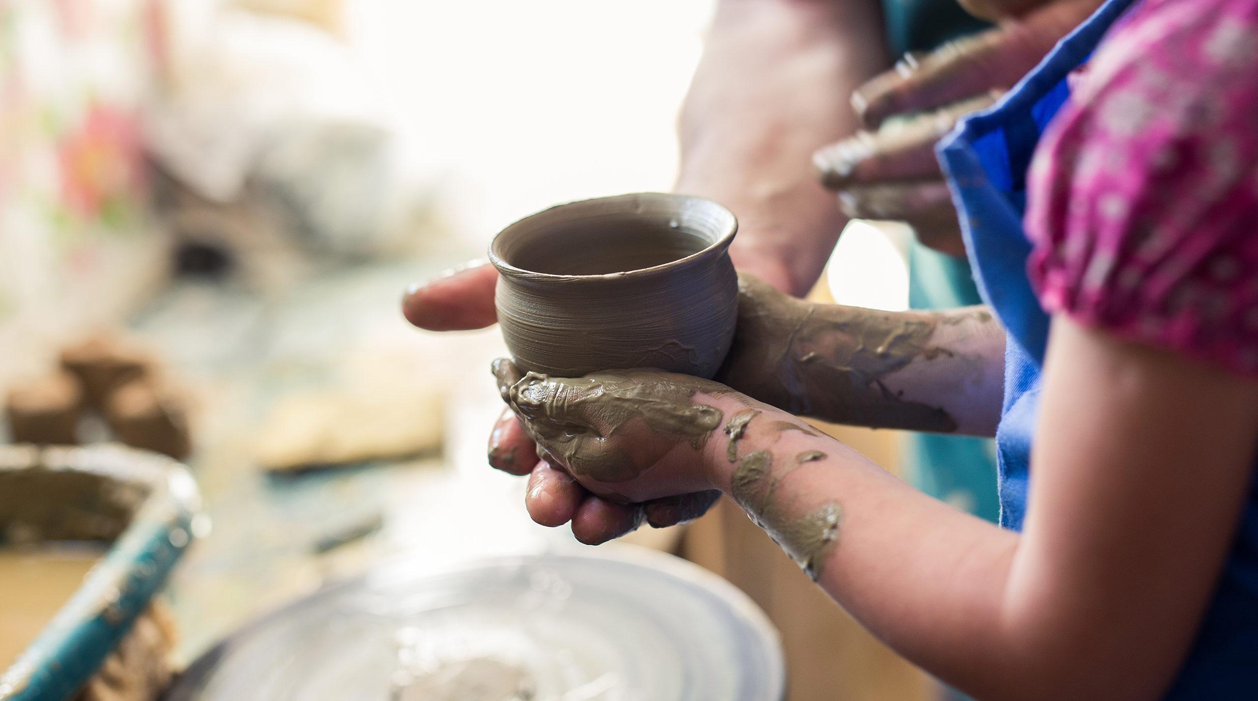 pottery studio at Grey Cliffs Ranch